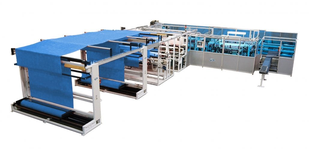 FDP-77765 - Combined automated unit for making flat bed sheets and quilt covers, and for producing length to length and width to length pillowcases. - Automatex
