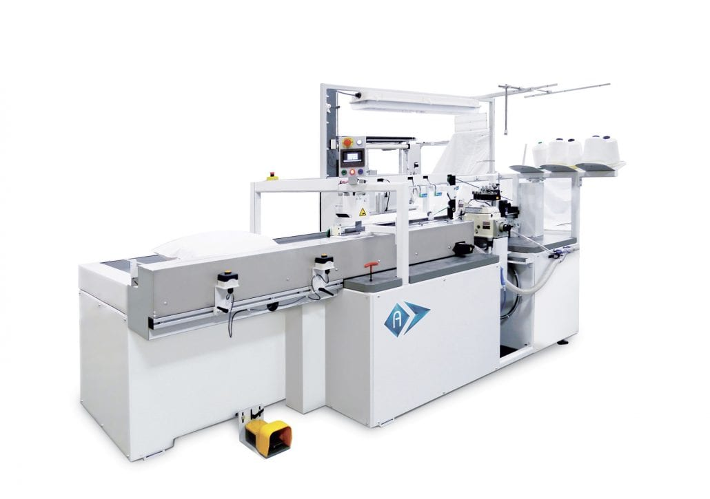 FO-3000 - Automated sewing unit to close pillows. - Automatex