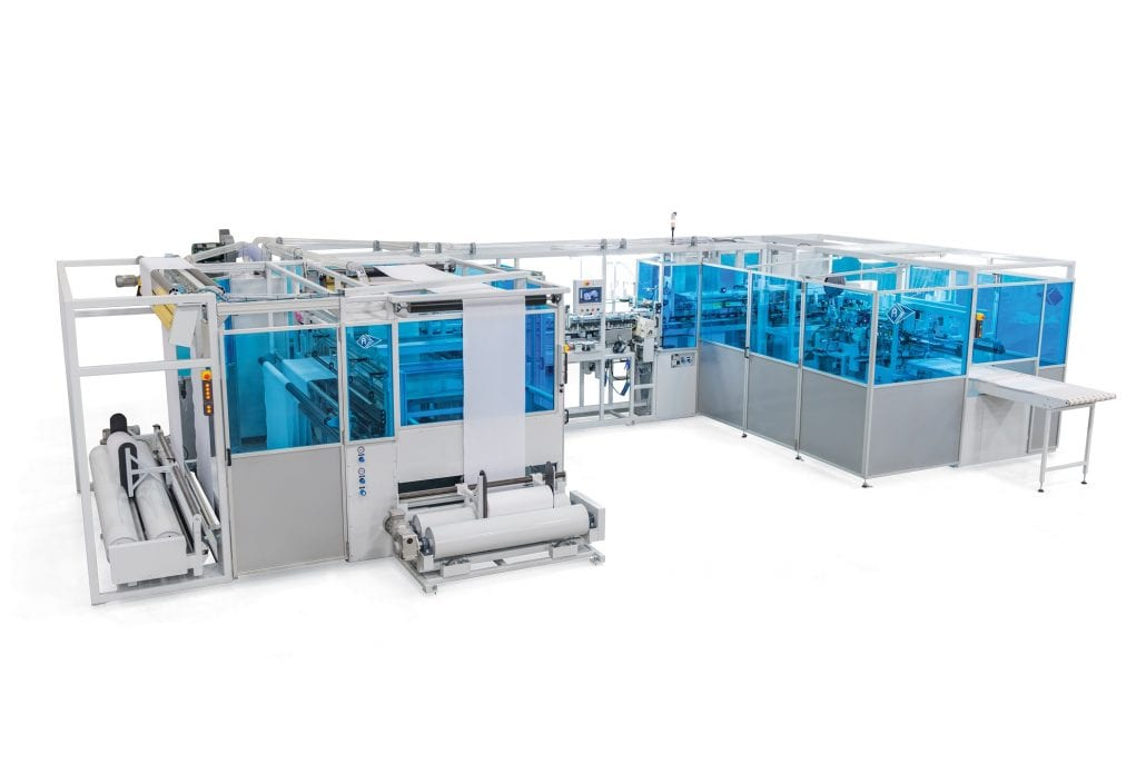 FTO-6880-D - Highly Flexible Automatic Combination Width for Length and Length for Length Pillowcase Unit - Automatex