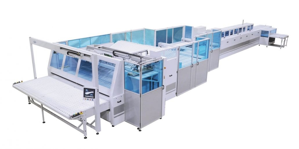 MULTITEX-3300-2000 - Folding Unit for Flat Products and Fitted Sheets - Automatex