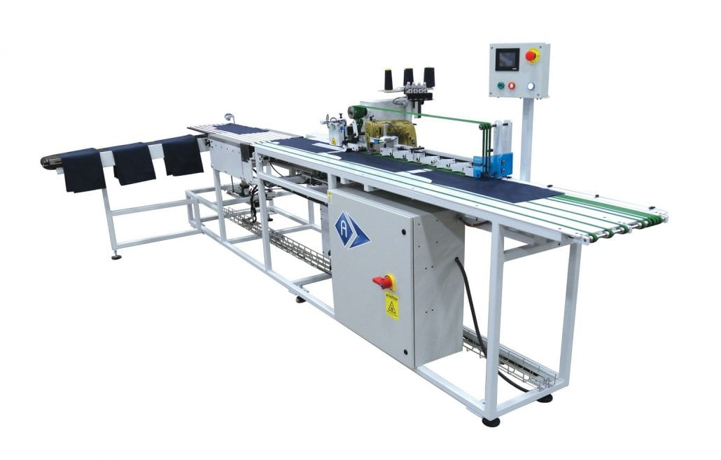 PPM-3500 - Automatic unit for sewing front shirt placket or pocket, sleeve and front shirt hemming - Automatex