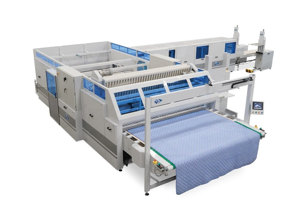 Quiltex-C-4-CF - Folding Unit for Beadspreads, Quilts & Comforters with up to 4 cross folds. - Automatex